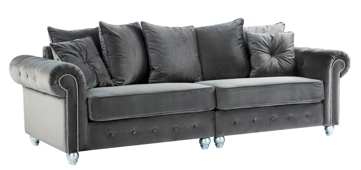 4-seater-grey-velvet-sofas