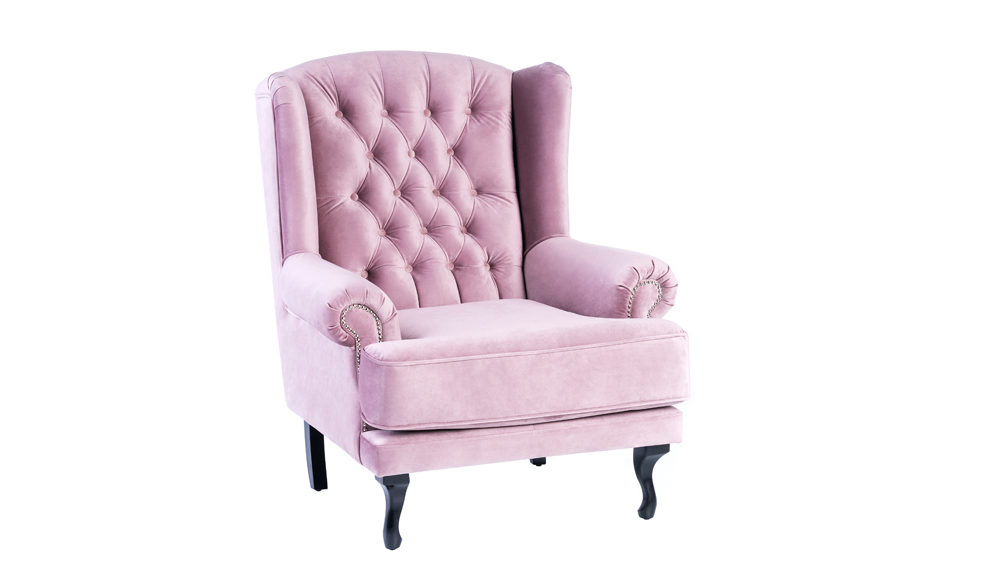 luxury-pink-velvet-armchair