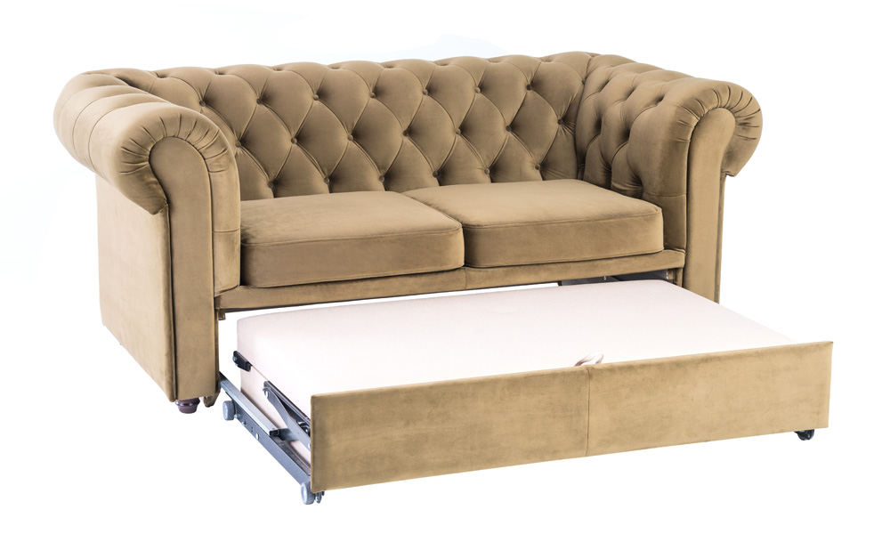 2-seater-luxury-brown-velvet-sofa-beds