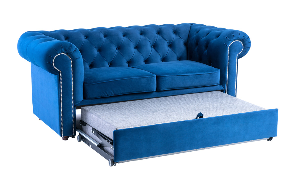 Chesterfield Velvet 2 Seater Sofa Bed