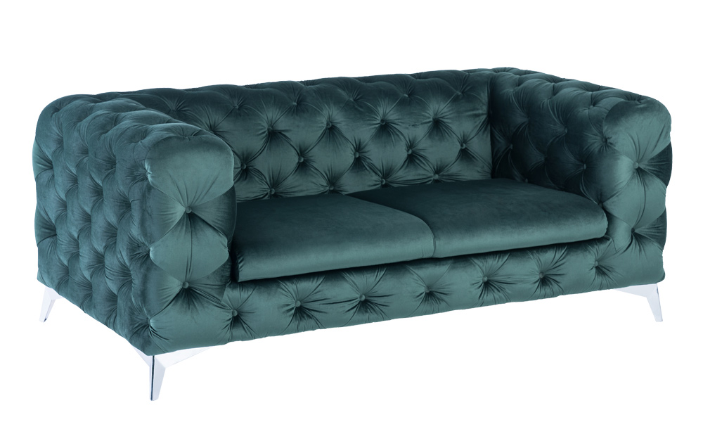 2-seater-luxury-green-velvet-sofas