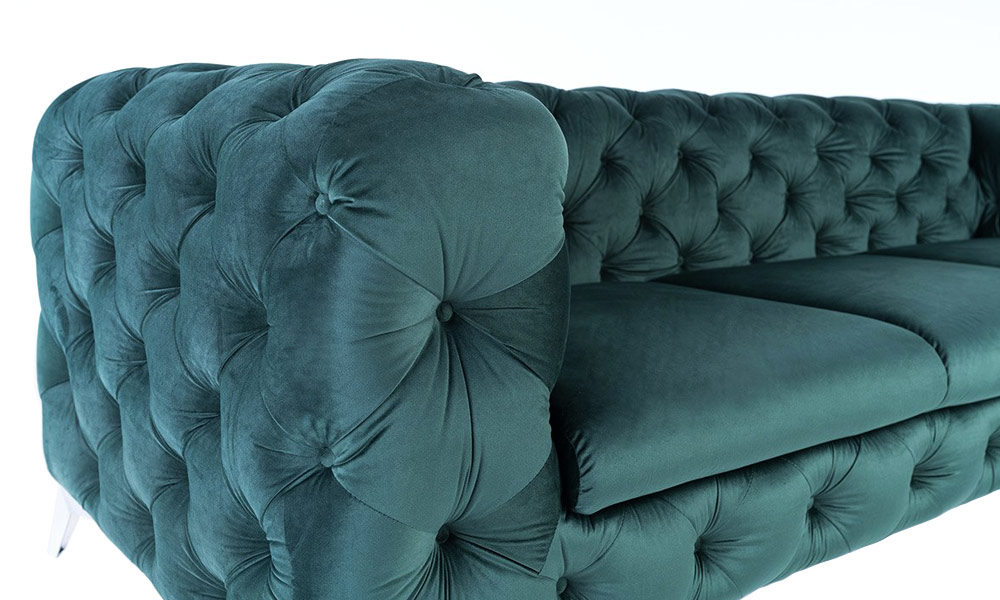 2-seater-luxury-green-velvet-sofas