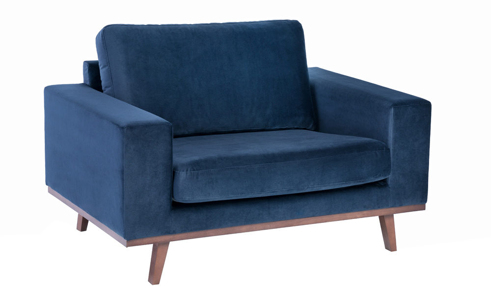 Exclusive-fabric-blue-armchair