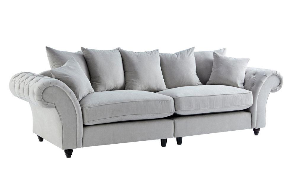 Terrific Aster 4 Seater Fabric Sofa Machost Co Dining Chair Design Ideas Machostcouk